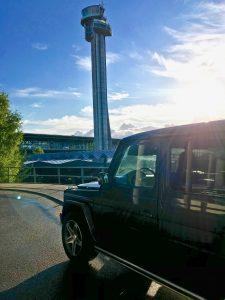 mercedes G-Klass på Gardermoen Oslo